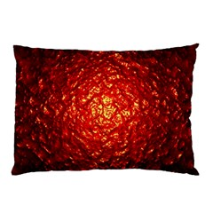 Abstract Red Lava Effect Pillow Case
