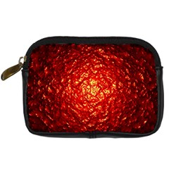 Abstract Red Lava Effect Digital Camera Cases