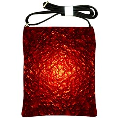Abstract Red Lava Effect Shoulder Sling Bags