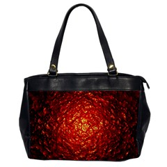 Abstract Red Lava Effect Office Handbags