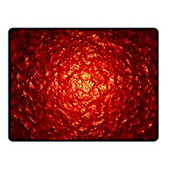 Abstract Red Lava Effect Fleece Blanket (small)