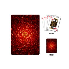 Abstract Red Lava Effect Playing Cards (mini)