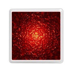 Abstract Red Lava Effect Memory Card Reader (square)