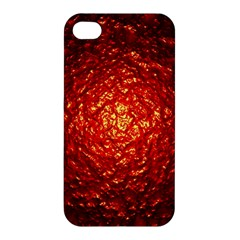 Abstract Red Lava Effect Apple iPhone 4/4S Premium Hardshell Case