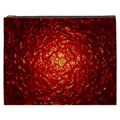 Abstract Red Lava Effect Cosmetic Bag (XXXL)