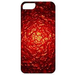 Abstract Red Lava Effect Apple iPhone 5 Classic Hardshell Case