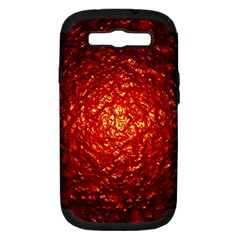 Abstract Red Lava Effect Samsung Galaxy S III Hardshell Case (PC+Silicone)