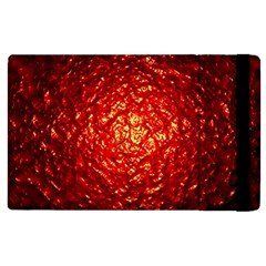 Abstract Red Lava Effect Apple Ipad 2 Flip Case