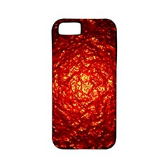 Abstract Red Lava Effect Apple iPhone 5 Classic Hardshell Case (PC+Silicone)