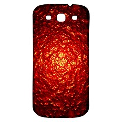 Abstract Red Lava Effect Samsung Galaxy S3 S III Classic Hardshell Back Case