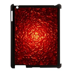 Abstract Red Lava Effect Apple iPad 3/4 Case (Black)