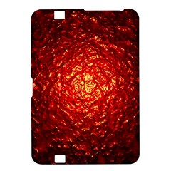 Abstract Red Lava Effect Kindle Fire HD 8.9