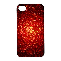 Abstract Red Lava Effect Apple iPhone 4/4S Hardshell Case with Stand