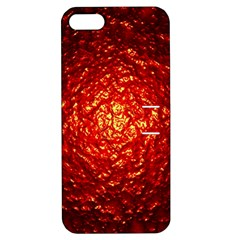 Abstract Red Lava Effect Apple iPhone 5 Hardshell Case with Stand