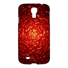 Abstract Red Lava Effect Samsung Galaxy S4 I9500/I9505 Hardshell Case