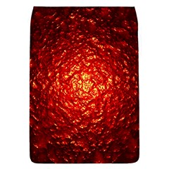 Abstract Red Lava Effect Flap Covers (L)