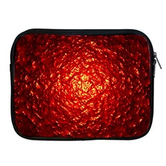 Abstract Red Lava Effect Apple iPad 2/3/4 Zipper Cases