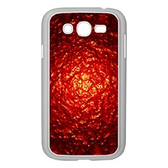 Abstract Red Lava Effect Samsung Galaxy Grand DUOS I9082 Case (White)