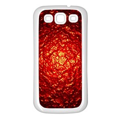 Abstract Red Lava Effect Samsung Galaxy S3 Back Case (White)
