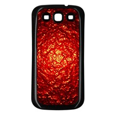 Abstract Red Lava Effect Samsung Galaxy S3 Back Case (Black)