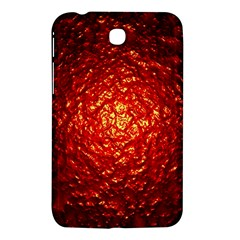 Abstract Red Lava Effect Samsung Galaxy Tab 3 (7 ) P3200 Hardshell Case