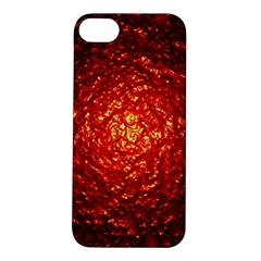 Abstract Red Lava Effect Apple iPhone 5S/ SE Hardshell Case