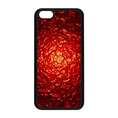 Abstract Red Lava Effect Apple iPhone 5C Seamless Case (Black)