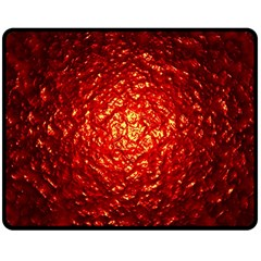 Abstract Red Lava Effect Double Sided Fleece Blanket (medium)