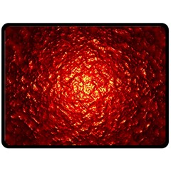 Abstract Red Lava Effect Double Sided Fleece Blanket (Large)