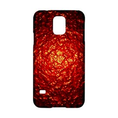 Abstract Red Lava Effect Samsung Galaxy S5 Hardshell Case