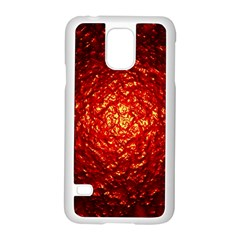 Abstract Red Lava Effect Samsung Galaxy S5 Case (White)