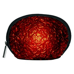 Abstract Red Lava Effect Accessory Pouches (medium)
