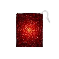 Abstract Red Lava Effect Drawstring Pouches (small)