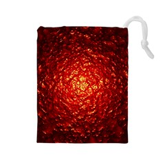 Abstract Red Lava Effect Drawstring Pouches (Large)