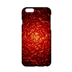 Abstract Red Lava Effect Apple iPhone 6/6S Hardshell Case