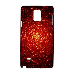 Abstract Red Lava Effect Samsung Galaxy Note 4 Hardshell Case