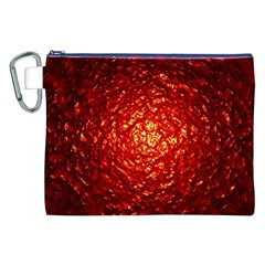 Abstract Red Lava Effect Canvas Cosmetic Bag (xxl)