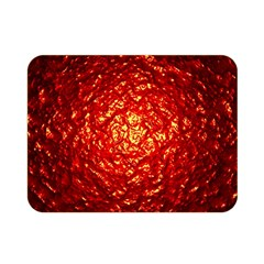 Abstract Red Lava Effect Double Sided Flano Blanket (mini)