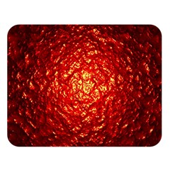 Abstract Red Lava Effect Double Sided Flano Blanket (Large)