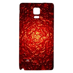 Abstract Red Lava Effect Galaxy Note 4 Back Case