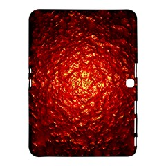 Abstract Red Lava Effect Samsung Galaxy Tab 4 (10 1 ) Hardshell Case
