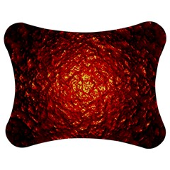 Abstract Red Lava Effect Jigsaw Puzzle Photo Stand (bow)