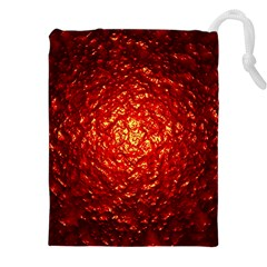 Abstract Red Lava Effect Drawstring Pouches (xxl)