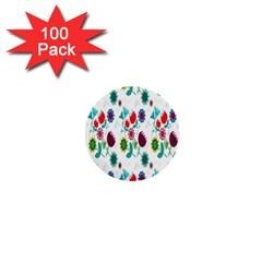 Lindas Flores Colorful Flower Pattern 1  Mini Buttons (100 pack)