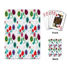 Lindas Flores Colorful Flower Pattern Playing Card
