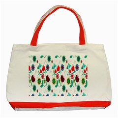 Lindas Flores Colorful Flower Pattern Classic Tote Bag (Red)