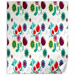 Lindas Flores Colorful Flower Pattern Canvas 8  X 10