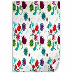 Lindas Flores Colorful Flower Pattern Canvas 20  X 30