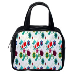 Lindas Flores Colorful Flower Pattern Classic Handbags (one Side)