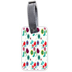 Lindas Flores Colorful Flower Pattern Luggage Tags (Two Sides)